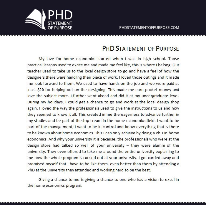 statement of purpose for phd admission