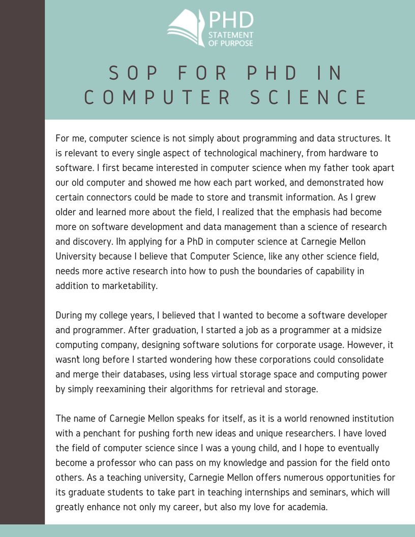 computer science phd statement of purpose example