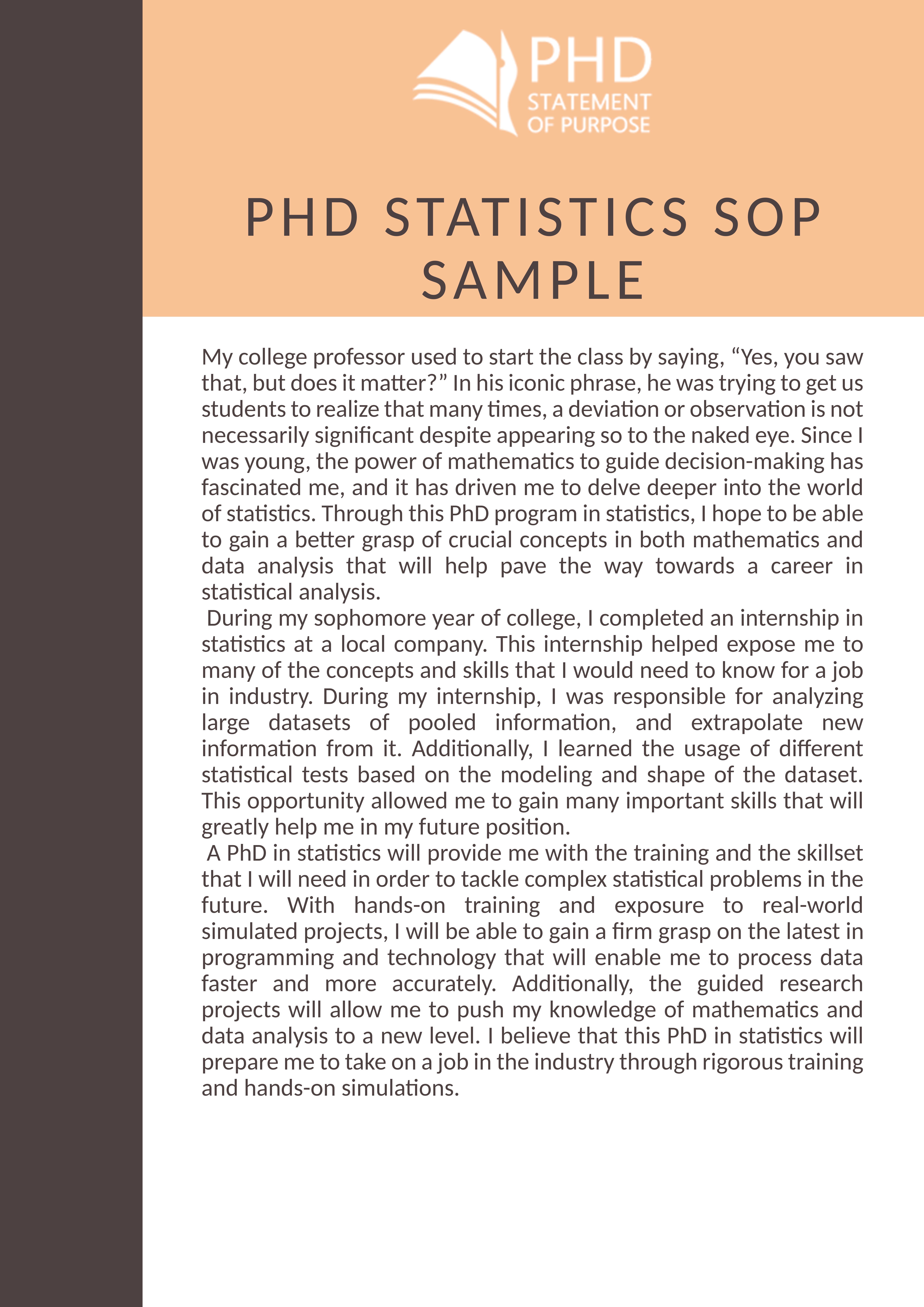 How to write sop for phd