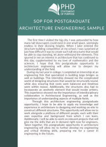 sample sop for postgraduate architecture engineering