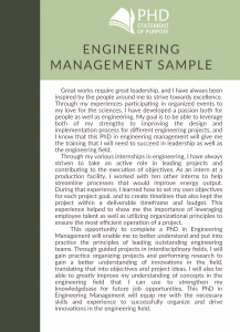 sop for engineering management phd sample