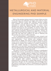 sop for metallurgical and material engineering phd sample
